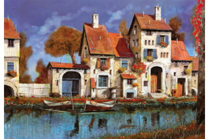 Educa 16316 - Gazdaság a tónál - Guido Borelli - 2000 db-os puzzle