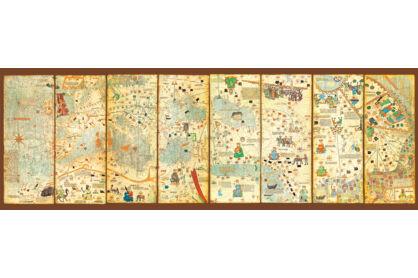 Educa 16355 - Panoráma puzzle - Világtérkép 1375. - 300 db-os puzzle