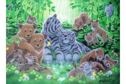 Ravensburger 14261 - Állatkölykök az erdőben - 500 db-os puzzle