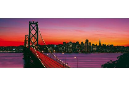 Ravensburger 15104 - Panoráma puzzle - Oakland Bay Bridge - San Francisco - 1000 db-os puzzle