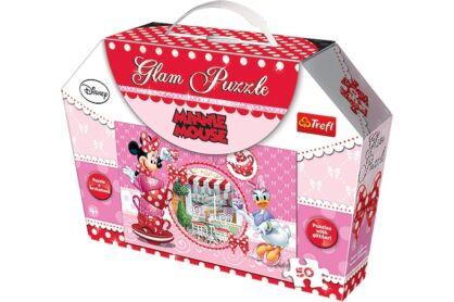 Trefl 14803 - Minnie Mouse - 50 db-os Csillámos puzzle