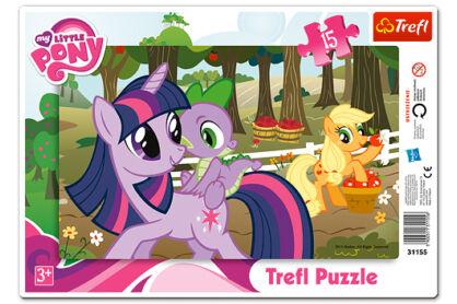 Trefl 31155 - My Little Pony - A gyümölcsös - 15 db-os keretes puzzle