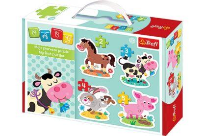 Trefl 36052 - A farm állatai - Első Baby puzzle táskában