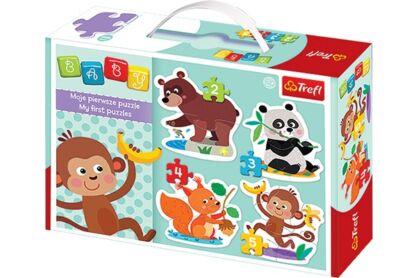 Trefl 36056 - Finomságok - Első Baby puzzle táskában