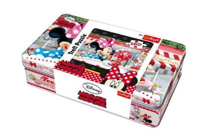 Trefl 53004 - Minnie Mouse - 160 db-os puzzle Fém dobozban