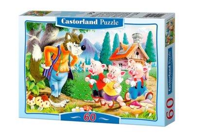 Castorland B-06519 - A három kismalac - 60 db-os puzzle