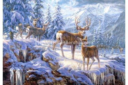 Castorland C-102501 - Téli hegyoldal szarvasokkal - 1000 db-os puzzle