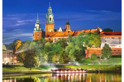 Castorland C-103027 - Királyi palota éjjel - Wawel, Lengyelország - 1000 db-os puzzle