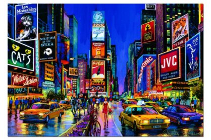 Educa 13047 - Neon puzzle - Time Square, New York - 1000 db-os puzzle