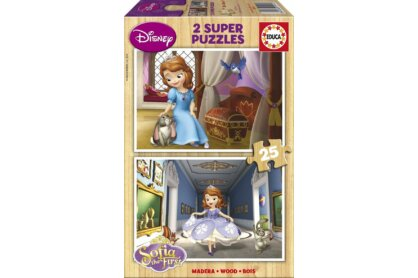 Educa 15914 - Szófia hercegnő - 2 x 25 db-os fa puzzle