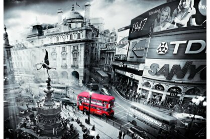 Educa 15981 - Black & White - Piccadilly Circus - 1000 db-os puzzle