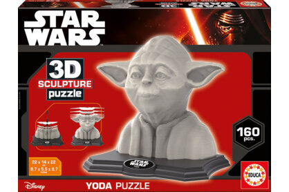 Educa 16501 - Yoda - 160 db-os 3D szobor puzzle