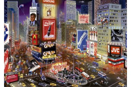 Educa 16325 - Time Square, New York - 8000 db-os puzzle
