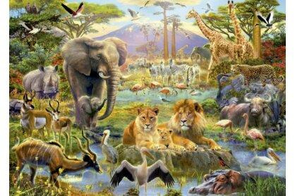 Educa 16303 - Afrikai itatónál - 1500 db-os puzzle