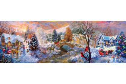EuroGraphics 6010-5331 - Panoráma puzzle - To Grandma's House We Go - 1000 db-os puzzle