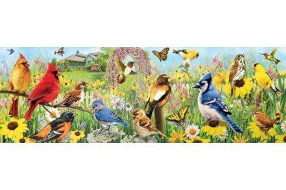 EuroGraphics 6010-5338 - Panoráma puzzle - Garden Birds - 1000 db-os puzzle