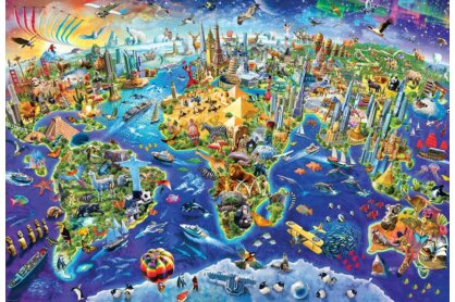 EuroGraphics 8220-5343 - Crazy World - 2000 db-os puzzle