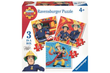 Ravensburger 07065 - Sam, a tűzoltó - 3 az 1-ben (25,36,49 db-os) puzzle