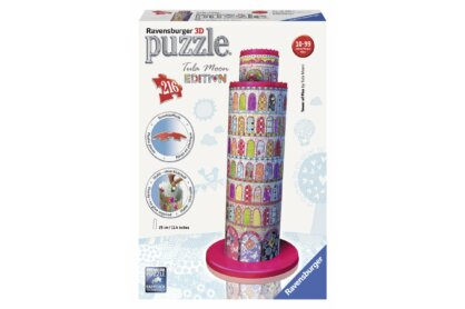 Ravensburger 12568 - Tula Moon Edition - Pisai ferde torony - 216 db-os 3D puzzle