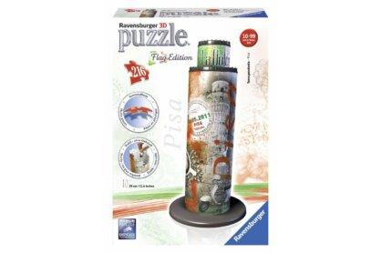 Ravensburger 12581 - Flag Edition - Pisai ferde torony - 216 db-os 3D puzzle