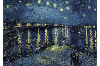 Ravensburger 15614 - Art puzzle - Van Gogh - Csillagos éj a Rhone fölött - 1000 db-os puzzle