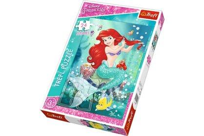 Trefl 14248 - Disney Princess - A kis hableány - 24 db-os Maxi puzzle