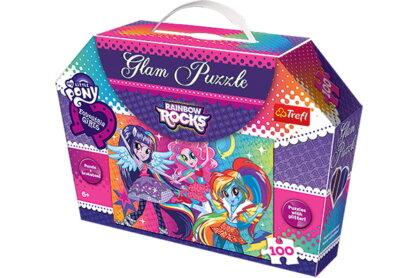 Trefl 14808 - My Little Pony - Equestria girls - 100 db-os Csillámos puzzle