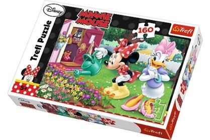 Trefl 15328 - Minnie Mouse - Kertészkedés - 160 db-os puzzle