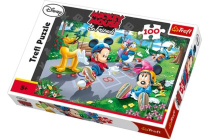 Trefl 16249 - Mickey egér görkorcsolyázik - 100 db-os puzzle