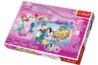 Trefl 16500 - Ariel, Hófehérke - 2 x 50 db-os Színváltó puzzle