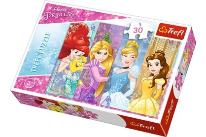 Trefl 18205 - Disney Princess - Mesebeli hercegnők - 30 db-os puzzle