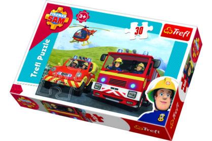 Trefl 18213 - Sam, a tűzoltó- 30 db-os puzzle
