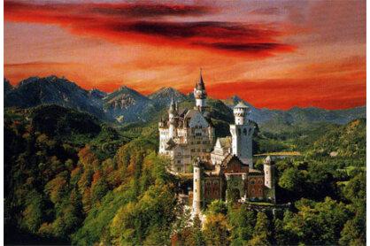 Trefl 27050 - Neuschwanstein kastély Németország - 1500 db-os puzzle