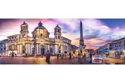 Trefl 29501 - Panoráma puzzle - Piazza Navona, Róma - 500 db-os puzzle