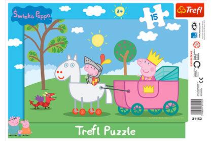 Trefl 31152 - Peppa lovag - 15 db-os keretes puzzle