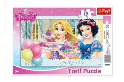 Trefl 31210 - Disney Princess - Teadélután - 15 db-os keretes puzzle