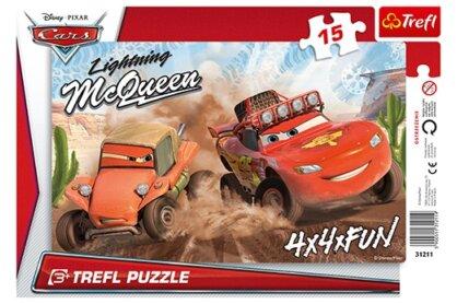 Trefl 31211 - Verdák 2. - Sivatagi futam - 15 db-os keretes puzzle