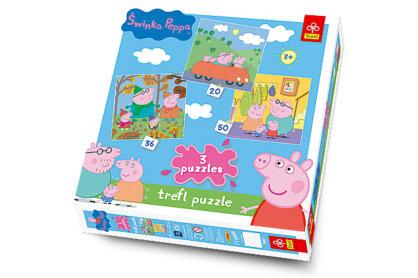 Trefl 34057 - Peppa malac - 3 az 1-ben (20, 36, 50 db-os) puzzle