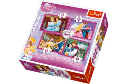 Trefl 34110 - Disney Hercegnők - 4 az 1-ben (35, 48, 54, 70 db-os) puzzle