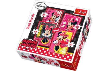 Trefl 34119 - A gyönyőrű Minnie - 4 az 1-ben (35, 48, 54, 70 db-os) puzzle