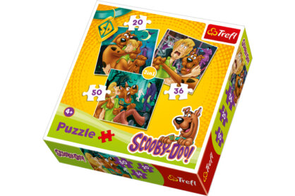 Trefl 34145 - Scooby-Doo - 3 az 1-ben (20, 36, 50 db-os) puzzle