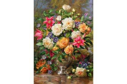 Trefl 45003 - Erzsébet királynő virágai - 4000 db-os puzzle