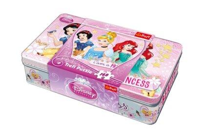 Trefl 53003 - Disney Princess - 160 db-os puzzle Fém dobozban