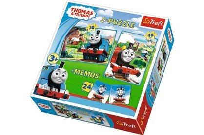 Trefl 90602 - Thomas és barátai - 2 az 1-ben puzzle és memóriajáték