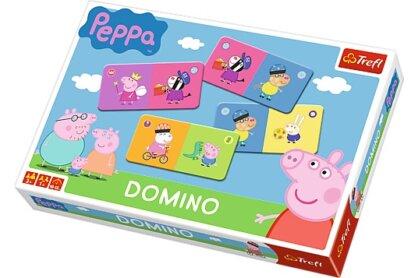 Trefl 01216 - Peppa malac dominó