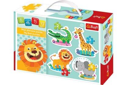 Trefl 36054 - Szafari - Első Baby puzzle táskában