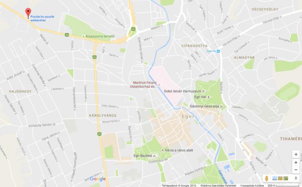 Puzzle.hu puzzle webáruház - Google térkép